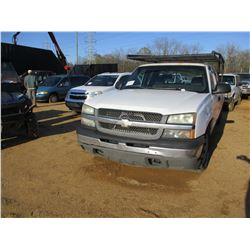 2005 CHEVROLET PICK UP, VIN/SN:1GCEC19VX5E204090 - EXTENDED CAB, V8 GAS ENGINE, A/T, LADDER RACK