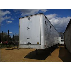 1972 GREAT DANE 730T CHIP TRAILER, VIN/SN:54770 - T/A, 45' LENGTH, CLOSED TOP, HALF GATE, 11R24.5 TI