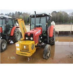 MASSEY FERGUSON 593 FARM TRACTOR, VIN/SN:8026BT90012 - 3 PTH, 2 HYD REMOTE, ECAB W/AIR, 7' ALAMO FAI