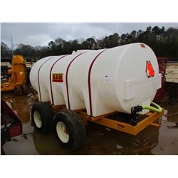 KBH 1600 WATER TANK, VIN/SN:NT04370 - BRIGGS & STRATON GAS ENGINE, BANJO PUMP, T/A TRAILER