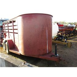 S & H STOCK TRAILER, VIN/SN:140BMBB2NA119153 - T/A, STACKMAN 5X14, 225/75R15 TIRES