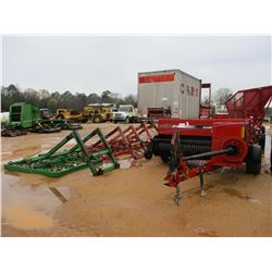 CASE SBX540 SQUARE HAY BALER W/STEFFER SYSTEMS HAY TRAILER, (3) HAY GRAPPLES, HAY TRANSFER TRAILER,