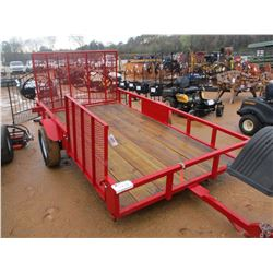 """2017 TOP LINE TAG TRAILER, VIN/SN:4UMJT1215HM000329 - 78"""" X 12', S/A, SIDE & REAR RAMPS, 215/70R15 T"""