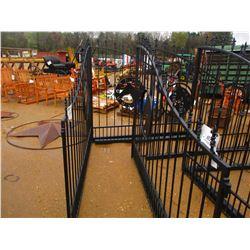 16' HORSE HEAD SCENE IRON GATE W/POST