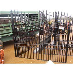 16' WILDLIFE METAL GATE W/POST