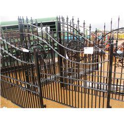 16' HORSE HEAD METAL GATE W/POST