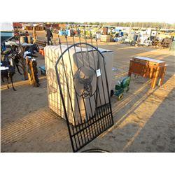4' DEER HEAD METAL GATE W/POST