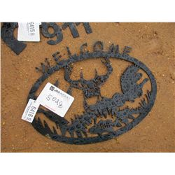 METAL WILDLIFE WELCOME SIGN