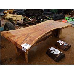 "TEAKWOOD TABLE 3"" THICK, 8.5' LONG"