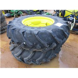 (2) 18.4-30 TIRES AND RIMS