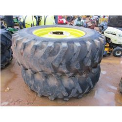 (2) TRACTOR TIRES W/RIMS