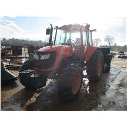 KUBATA M1085 FARM TRACTOR, VIN/SN:50082 - 4X4, PTO, 3 HYD REMOTES, ECAB W/AIR (DOES NOT RUN) (COUNTY