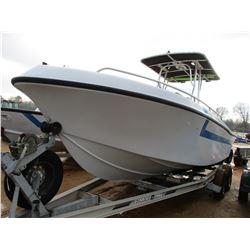 FIBERGALSS BOAT, VIN/SN:MRKAT146J900 - 22', MERCURY OPTIMAX OUTBOARD ENGINE, CENTER CONSOLE, T/A, AL