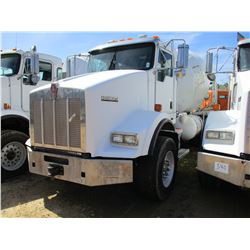 2009 KENWORTH T800 CONCRETE MIXER, VIN/SN:1NKDLF0X69J244265 - T/A, 350 HP CAT C9 DIESEL ENGINE, 8LL