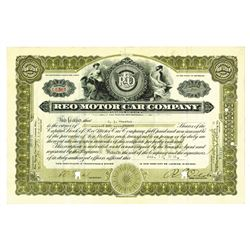 REO Motor Car Co., 1916 Canceled Stock Certificate Signed by R.E. Olds as President.