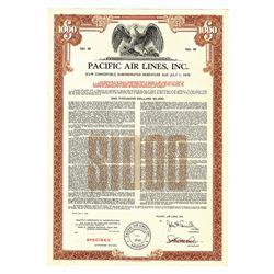 Pacific Air Lines, Inc., 1961 Specimen Bond