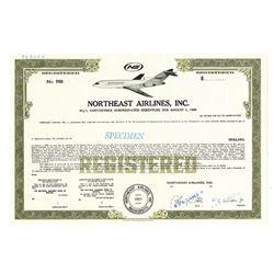 Northeast Airlines, Inc., ca.1960-1970 Specimen Bond