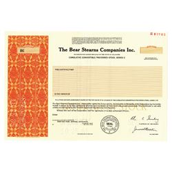 Bear Stearns Companies Inc., 1985 Specimen Stock
