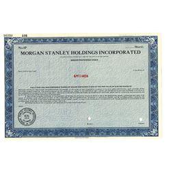Morgan Stanley Holdings Inc., ca.1970-1980 Specimen Stock
