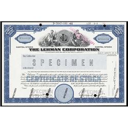 The Lehman Corp., 1981 Specimen Stock