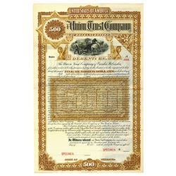 Union Trust Co., ca.1880-1890 Specimen Bond