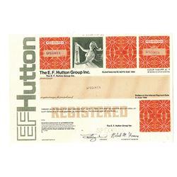 E.F. Hutton Group Inc., ca.1950-1970 Specimen Bond