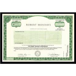 Robert Mondavi Corp., ca.1960-1970 Specimen Stock