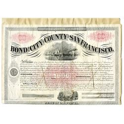 Bond of the City and County of San Francisco, 1867 Canceled Bond