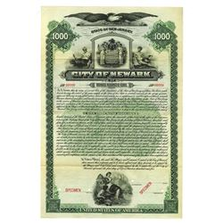 City of Newark, 1905 Specimen Bond