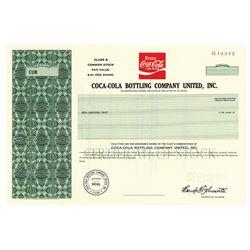 Coca-Cola Bottling Co. United Inc., 1986 Specimen Stock