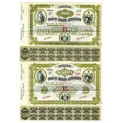 Caja De Credito Hipotecario, ca.1900-1920 Group of 2 Specimen Bonds