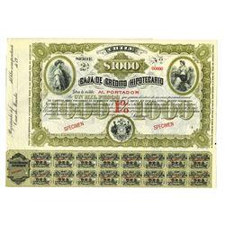 Caja De Credito Hipotecario, ca.1900-1920 Specimen Bond.
