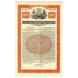 Conversion Office for German Foreign Debts, 1936  Bond