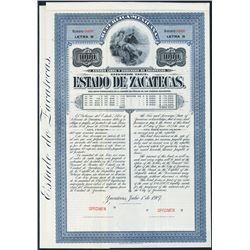 Estado de Zacatecas Specimen Bond.