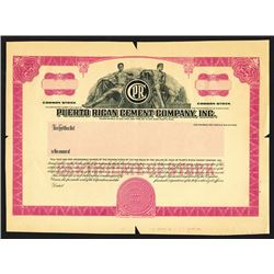 Puerto Rican Cement Co., Inc., ND (ca.1960's) Proof Stock Certificate.
