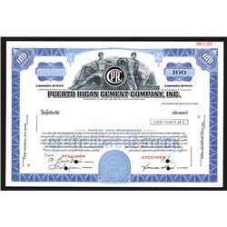 Puerto Rican Cement Co., Inc., ND (ca.1960's) Specimen Stock Certificate.