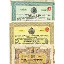 City of Moscow, 1908-1912, Trio of Bonds
