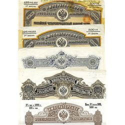 Imperial Russian Government, 1890-1909, Set of Government Bonds