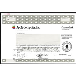 Apple Computer Inc., Specimen Stock.