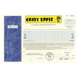 Crazy Eddie, 1986 Specimen Bond