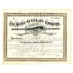 Alaska Gold Company, January 28th, 1889 Stock Certificate.