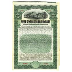 West Kentucky Coal Co., 1905 Specimen Bond