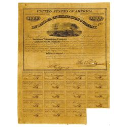 Louisiana Tehuantepec Co., 1858 Issued Bond.
