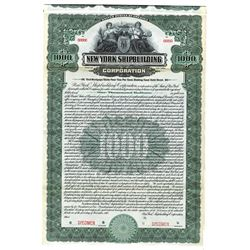 New York Shipbuilding Corp., 1916 Specimen Bond