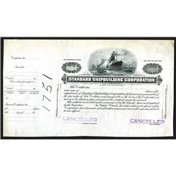 Standard Shipbuilding Corp., ND ca.1900 Proof Stock Certificate.