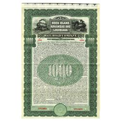 Rock Island, Arkansas and Louisiana Railroad Co., 1906 Specimen Bond