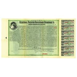 Extension of Central Pacific Railroad Co, 1901 Specimen Bond