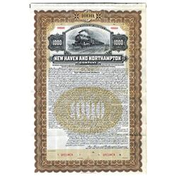 New Haven & Northampton Railroad Co., 1906 Specimen Bond