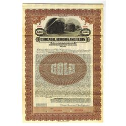 Chicago, Aurora and Elgin Corp., 1922 Specimen Bond