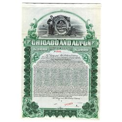 Chicago and Alton Railway Co., 1900 Specimen Bond